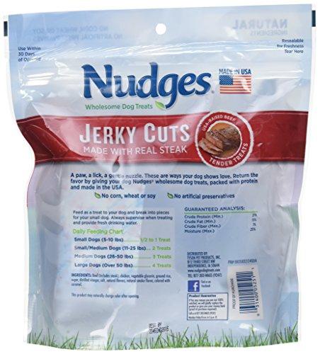 Nudges Jerky Cuts Dog Treats, Steak, 18 Ounce