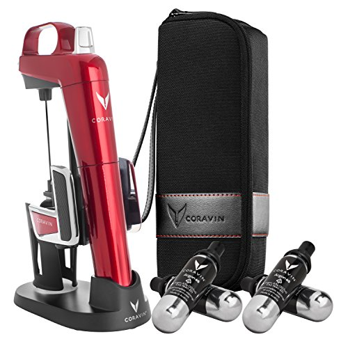 Red Red Proprietary Wine (Coravin Model Two Elite Pro Wine Preservation System, Candy Apple Red)