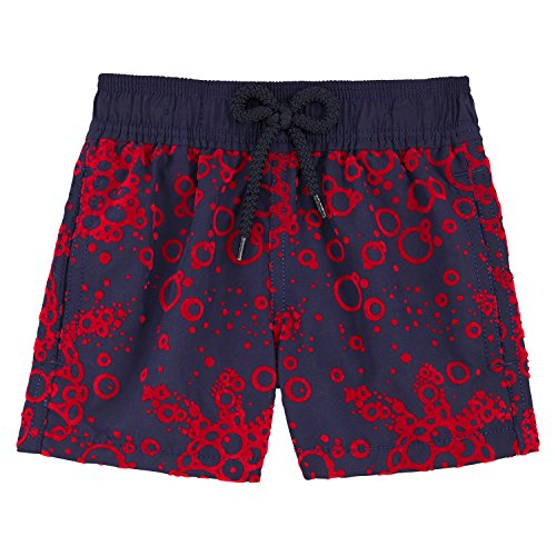 Vilebrequin - Flocked Bubbles Turtles Boy Swimwear - Boys - 4 years - Navy Blue by Vilebrequin
