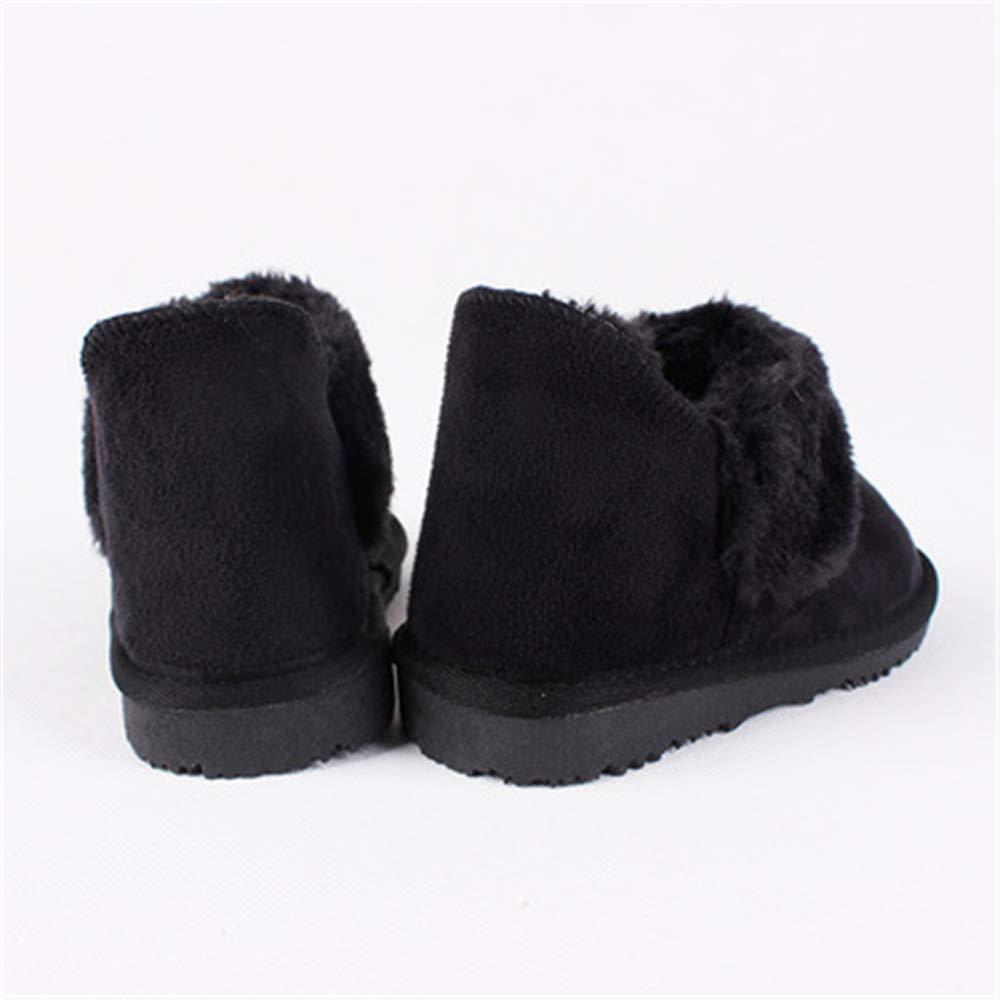 MINIKATA Autumn Winter Warm Fashion Martin Boots Toddler Kids Girls Boys Students Snow Boots Shoes