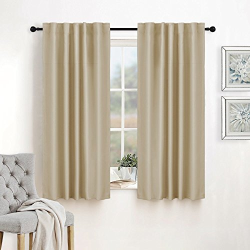 Room Darking Curtains for Bedroom - RYB HOME  Back Loops / R