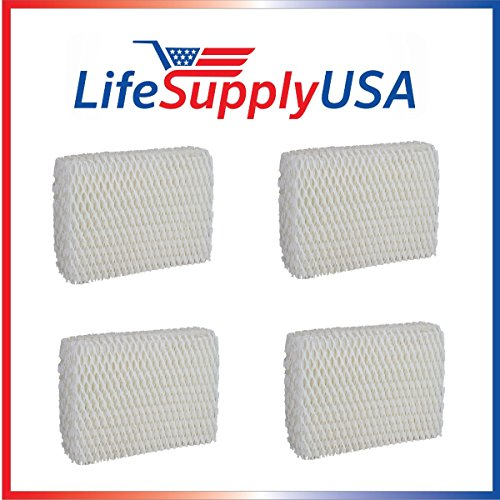 LifeSupplyUSA 4 Pack Humidifier Filter Compatible with Sears Kenmore Humidifier 14803 14804 Wick Filter. Compatible with Sears Kenmore Models 14804, 14103, 14104, 14113, 14114, 14121 and 14122 (Humidifier Filters Kenmore 14114)