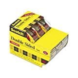 Scotch : 665 Double-Sided Office Tape in Hand Dispenser, 1/2'' x 250'', Three/Box -:- Sold as 2 Packs of - 3 - / - Total of 6 Each