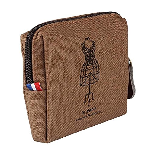 Coffee Mini Clutch rolfs Wallet Handbags Retro Wallet wallet Card Zipper Purse Clearance Noopvan 2018 Holders Womens Lady RH4Iawq