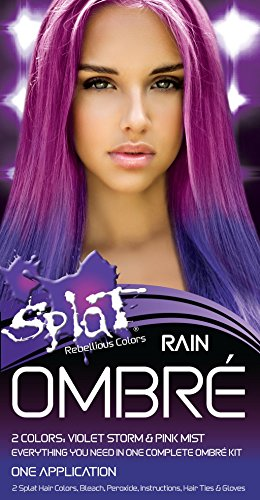 Splat Rebellious Colors Hair Coloring Complete Kit Rain Ombre