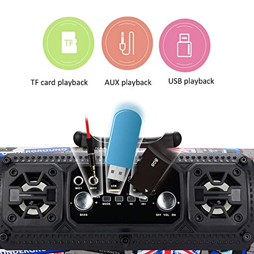 Silverdewi Al aire libre Port/átil M/óvil Potente Inal/ámbrico HiFi Est/éreo BT Altavoz Soundbox para PC Tel/éfono Equipo de m/úsica