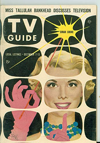 1957 TV Guide Dec 7 Dinah Shore - Pittsburgh Edition Excellent to Mint (6 out of 10) Lightly Used by Mickeys Pubs