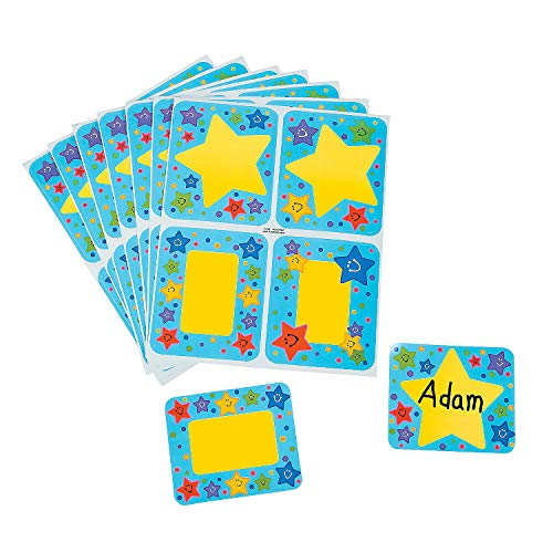 Smiles Name Tags - Fun Express - Super Star! Name Tags - Stationery - Stickers - Name Tags - 100 Pieces
