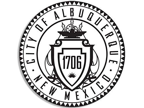 (American Vinyl Round Albuquerque New Mexico City Seal Sticker (Decal Logo nm State USA))