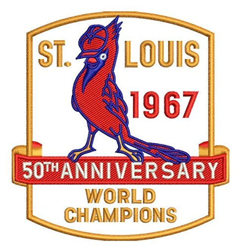 Cardinals 1967 World Series Patch 50TH Anniversary Gibson Brock Carlton ST. Louis
