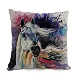Horse Throw Pillow Case 12 X 20 Inches / 30 By 50 Cm Best Choice For Son,shop,teens Girls,divan,deck Chair,bedroom With Each Side
