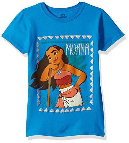 - Disney Girls' Big Moana Cap Sleeve T-Shirt, Turquoise, M-8/10