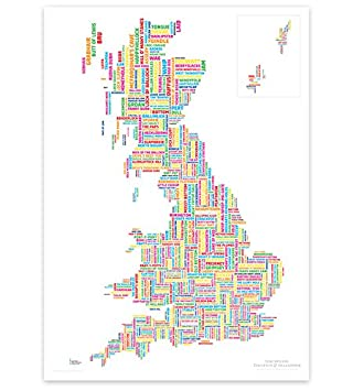Rude Map of Britain  STGs Marvellous Map  Modern Style