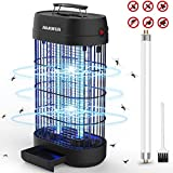 AMUFER Bug Zapper, Electronic Fly & Mosquito Killer, Powerful 1800V Grid UV Trap Light with Hanger,18W Indoor Large Area Insect Catcher - for Indoor Bedrooms and Gardens