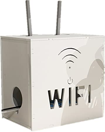 Xichengshidai WiFi para Cajas de almacenaje estantería, Blanco ...