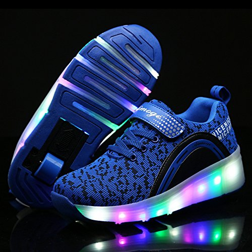 Shoes with Up HotDingding LED Skate Sneakers Shoes Boys Wheels for Light Roller Kids for Adult Girls PYPvxr