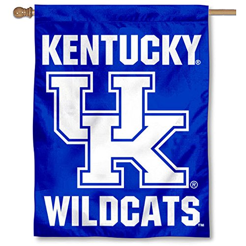 College Flags and Banners Co. Kentucky UK Wildcats New Logo Double Sided House Flag ()
