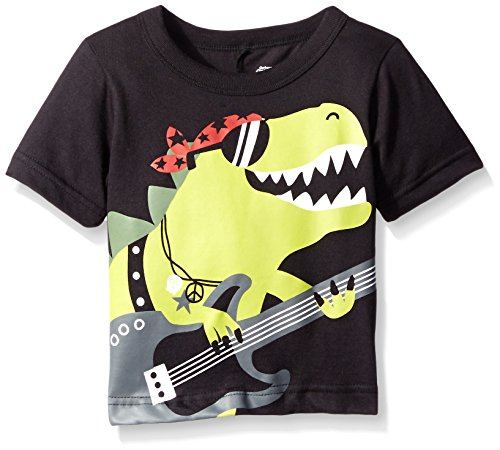 Gerber Graduates Boys Short Sleeve T-Shirt With Raised 3-D Back Applique, Dinosaur, 24 Months (3d Green T-shirt)