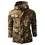 SFYZY Hoodie Veste Sweat Lourd Camouflage Zipper Workerhoodie Pull Veste Tactique Militaire Outdoor Randonnée Chasse… 8