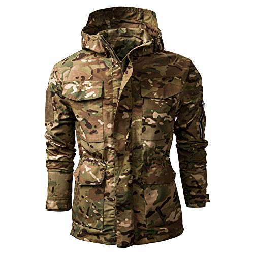 SFYZY Hoodie Veste Sweat Lourd Camouflage Zipper Workerhoodie Pull Veste Tactique Militaire Outdoor Randonnée Chasse… 1