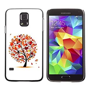 Designer Depo Hard Protection Case for Samsung Galaxy S5 / Beautiful Autumn Tree Leaves