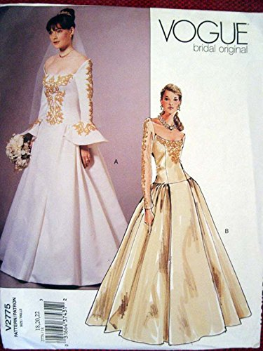Vogue Bridal Original Misses'/Misses Petite Dress Sewing Pattern 2775 Sz 18-22 Out of Print