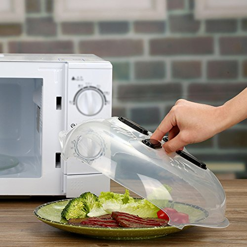 Microwave-plate-coverprevent-food-splatter-coverhover-Magnetic-suction-function-and-safe-convenient-with-steam-vent-115in-by-ZFITEKEJI