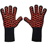 Homeerr P1638067 BBQ Gloves Heat Resistant Gloves BBQ Tools Holiday Present for Mum Dad Outdoor Cooking Gloves-14 inch Long for Forearm (1 Pair)