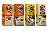 34 Degrees Cracker Variety Pack - 4 Assorted 4.5 Ounce Boxes -Natural, Cracked Pepper, Whole Grain & Rosemary