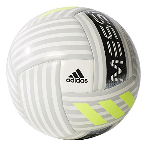 adidas Performance Messi Soccer Ball, White/Black/Solar Yellow, Size 5