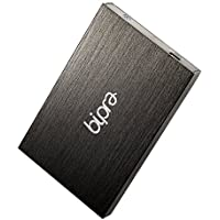 (2 Year Warranty by Trio Digi) 1TB 2.5 inch External Hard Drive Portable USB 2.0 - BLACK - NTFS (1TB)
