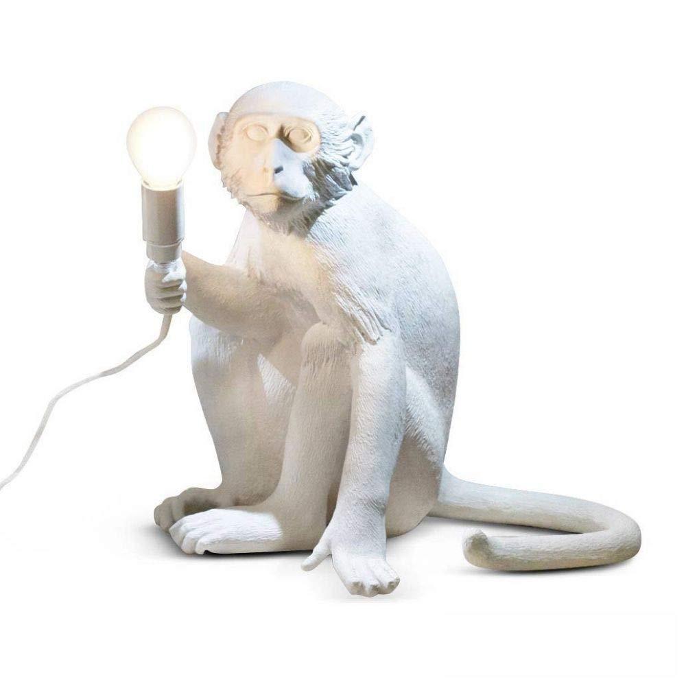 Seletti Monkey Lamp - Sitting White
