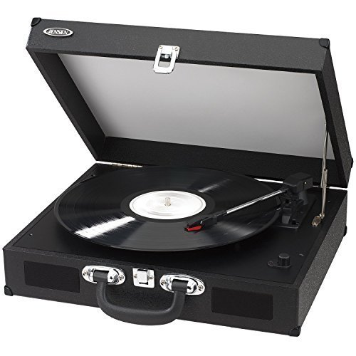 Jensen Portable 3 Speed Stereo Turntable With Built In