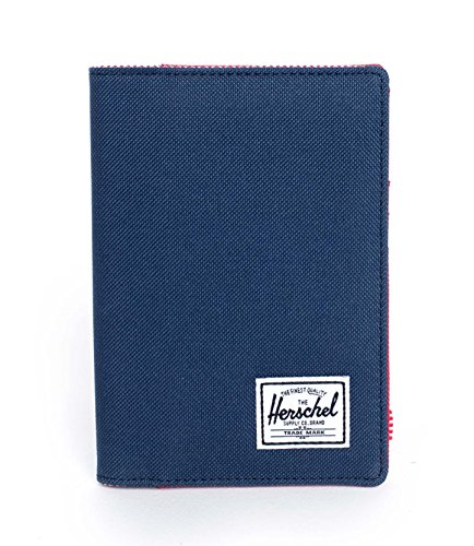 Herschel Supply Co. Raynor Passport Holder, Navy/Red, One Size