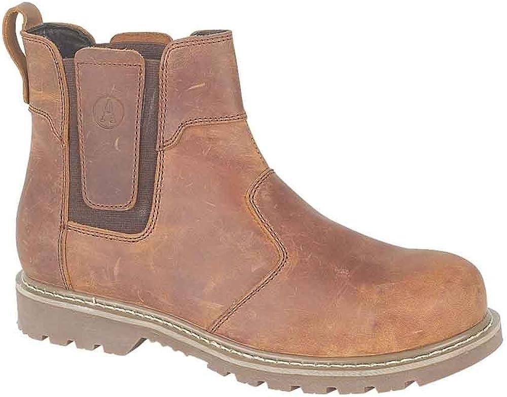 Amblers Mens Abingdon Mens Boot Brown Crazy Horse Leather Dealer Boot