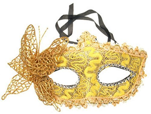 Halloween Costumes Butterfly Gold Mask Masquerade Party DIY Drawing by Rubyshop]()
