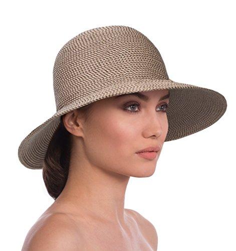 Eric Javits Luxury Fashion Designer Women's Headwear Hat - Squishee IV - Bark by Eric Javits