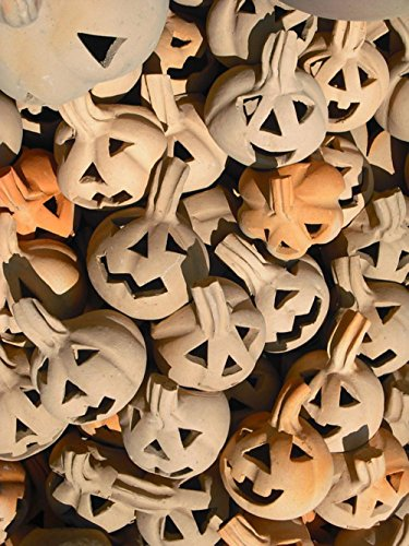 Laminated 24x32 inches Poster: Ceramic Figures Pumpkin Pottery Arts Crafts Decoration Fragile Bunch Halloween Death Day Mexico Tourism Hand Made Clay Pot Earthenware Creativity Mud Work