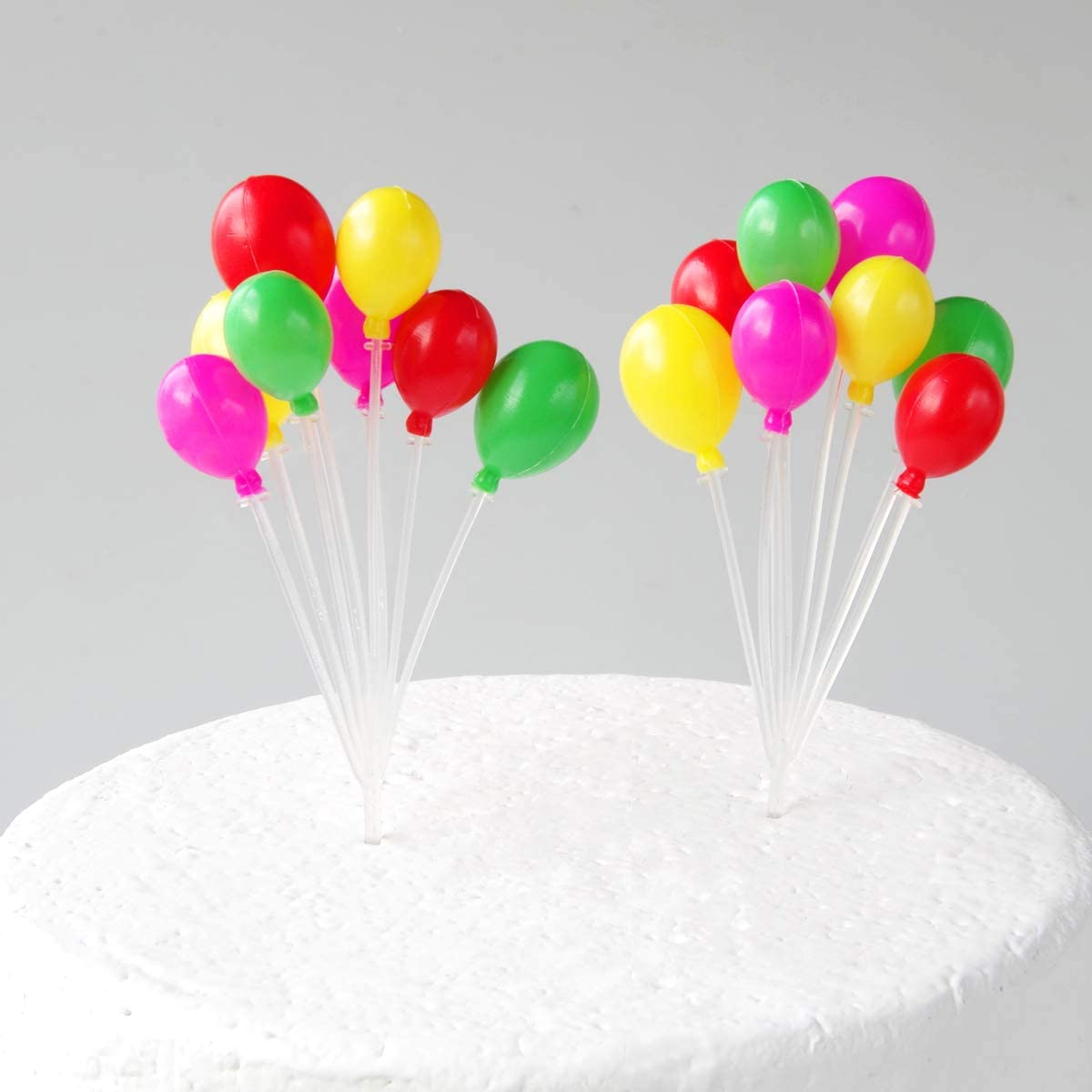 Superb Maygone 2 Pack Plastics Rainbow Balloons Cake Toppers Birthday Personalised Birthday Cards Veneteletsinfo