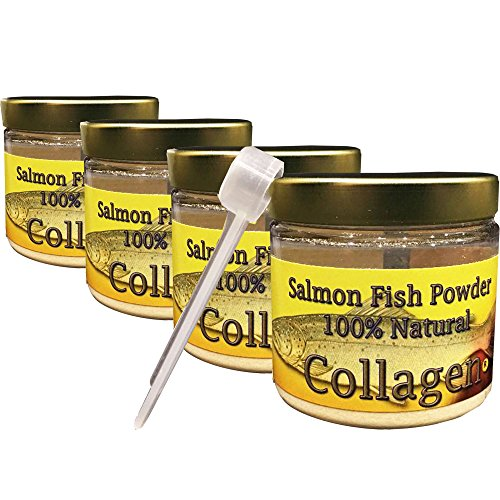 SALCOLL COLLAGEN Salmon Collagen Powder - Organic Collagen For Joint Pain Rheumatoid Arthritis & Osteoporosis - Aids Tissue Cartilage & Bone Regeneration For Extra Energy Mobility & Vitality - 4 Pack by Salcoll Collagen