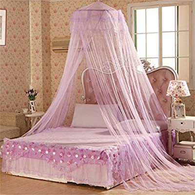 Academyus Elegent Bed Netting Canopy Round Dome Mosquito Net Summer Bedroom