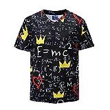 Azuki t Shirts for Funny Black Calculation Formula Graphic V-Neck M