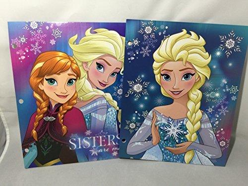 Set of 2 Frozen Princess Folders (2 Pockets, 3 Rings) - Disney