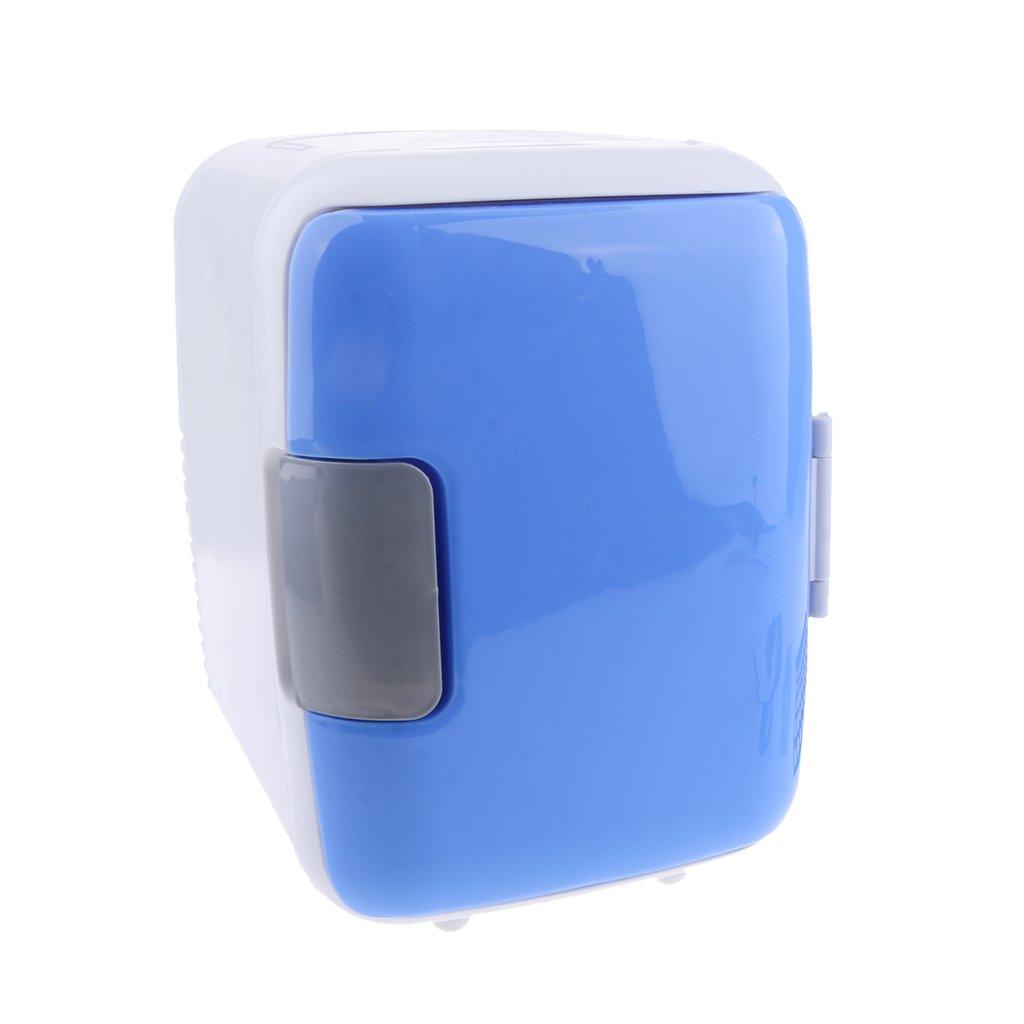 Homyl Universal 4L Mini Fridge Electric Refrigerator Cooler And Warmer Freezer for Car Van Home Truck - blue