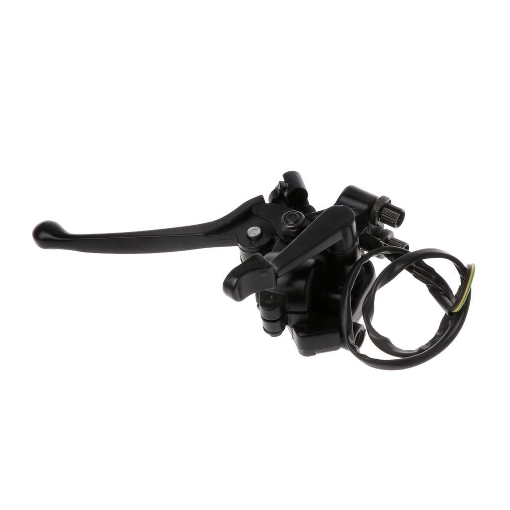 Brake Lever Right Thumb Throttle Dual Cable for Quad Off-Road Motorcycle ATV RingBuu Black Aluminum