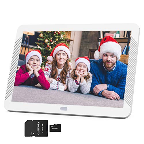Camkory 1920x1080 Digital Picture Frame 8 Inch Widely IPS Screen Include 32GB SD Card, Photo Auto Rotation, Image Preview, Adjustable Brightness, Support Max 128GB USB Drive, SD, MMC, MS Card (Deal Electronics)