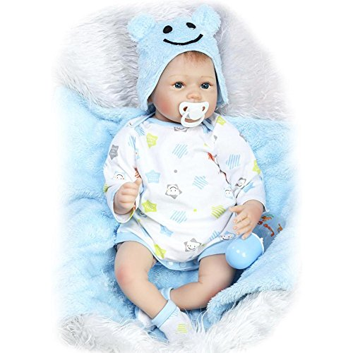 - Iainstars NPK Cute Simulation Reborn Doll Baby Kids Silicone Wedding Gifts Toys/Blue