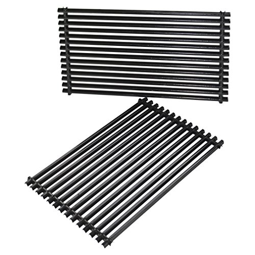 only fire Replacement Cooking Grill Grid Grates Porcelain-Enamel Rectangle (12.75'' x19.5'' x0.4'') fits for Weber 7528, Set of 2 ()