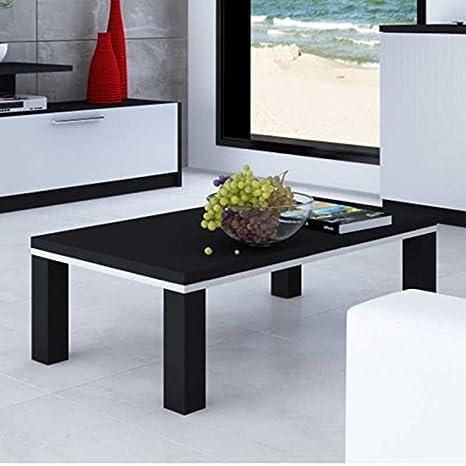 Mesa de centro en color negro y plata estilo minimalista para ...