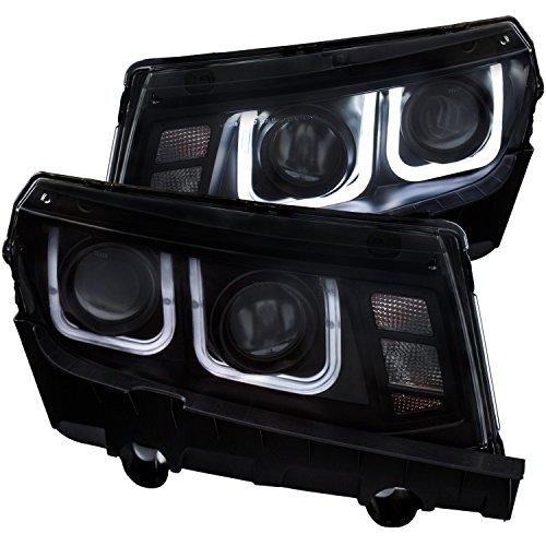 SPPC Black Projector Headlights U Bar Assembly For CHEVY CAMARO - (Chevy Camaro Headlight Headlamp)